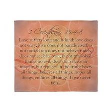 love 1 corinthians Throw Blanket