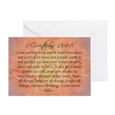 love 1 corinthians Greeting Card
