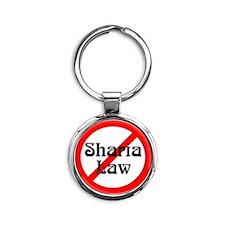 no-sharia-law Round Keychain