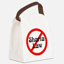no-sharia-law Canvas Lunch Bag