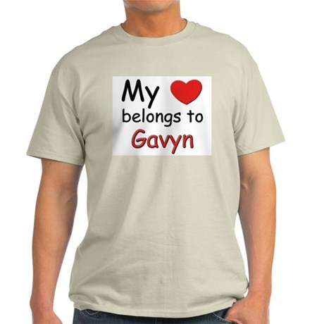 My heart belongs to gavyn Ash Grey T-Shirt