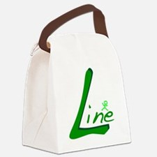 Line Handwritten Green Canvas Lunch Bag
