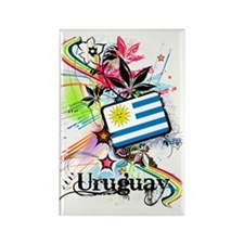 flowerUruguay1 Rectangle Magnet