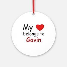 My heart belongs to gavin Ornament (Round)