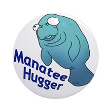 manatee2 Round Ornament