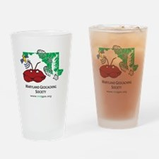 Cafepress MD crab with bootprints Drinking Glass