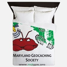 Cafepress MD crab with bootprints Queen Duvet