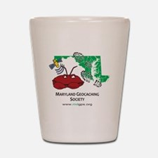 Cafepress MD crab with bootprints Shot Glass