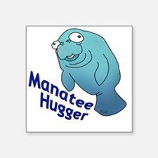 """2-manatee2-small Square Sticker 3"""" x 3"""""""