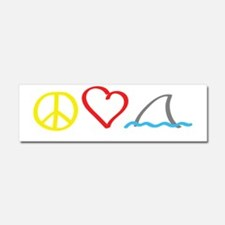 PeaceLove1 Car Magnet 10 x 3