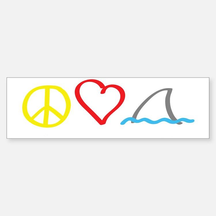 PeaceLove1 Bumper Bumper Sticker