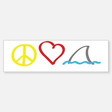 PeaceLove1 Sticker (Bumper)