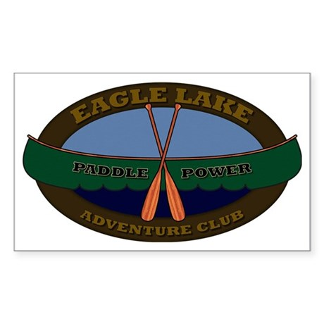 Eagle Lake Adventure Club Padd Sticker (Rectangle)