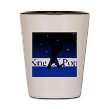 king of pop Shot Glass