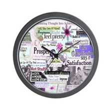 abuse13x13pink Wall Clock