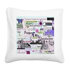 abuse13x13pink Square Canvas Pillow