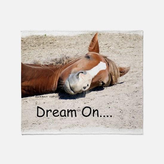 Dream On Sleeping Horse Throw Blanket