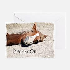 Dream On Sleeping Horse Greeting Card