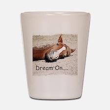 Dream On Sleeping Horse Shot Glass
