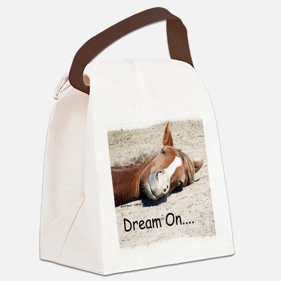Dream On Sleeping Horse Canvas Lunch Bag