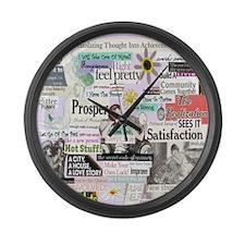 abuse13x13reg Large Wall Clock