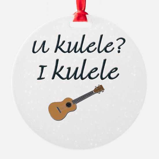 funny ukulele Ornament
