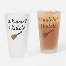 funny ukulele Drinking Glass