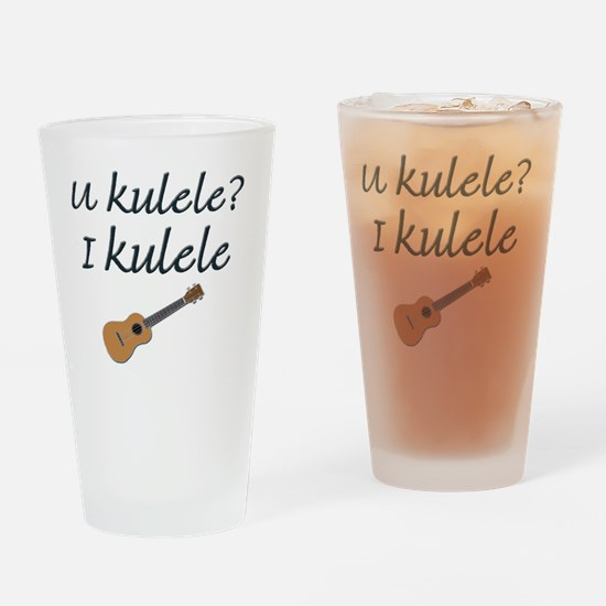 funny ukulele Drinking Glass