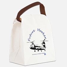 Future Hooker Blue Canvas Lunch Bag