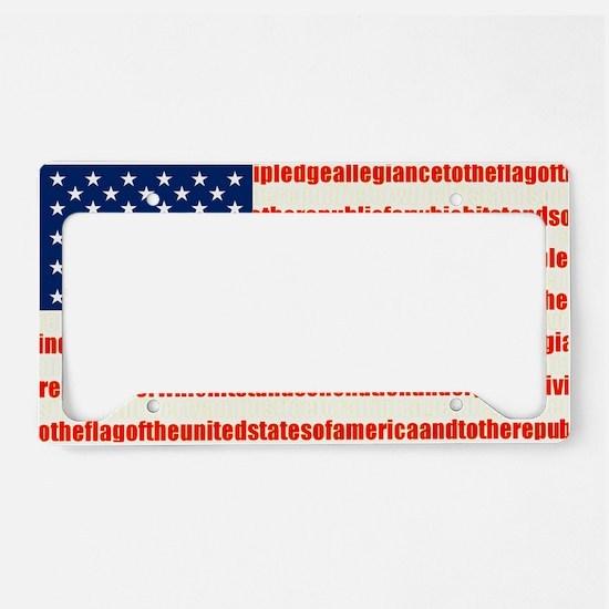 pledge License Plate Holder