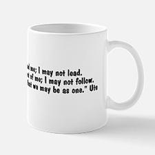 Walk beside me35x9 Mug