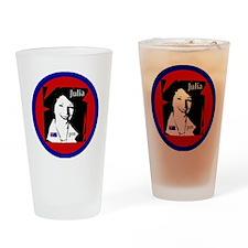 4-juliabutton Drinking Glass