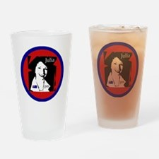 4-juliabutton Drinking Glass