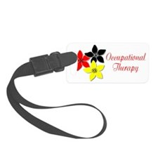 flower large for black Luggage Tag