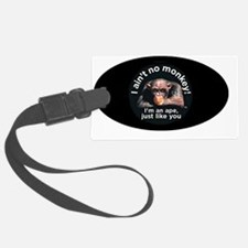 oval aint no monkey-transparent Luggage Tag