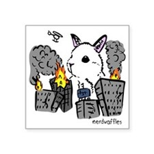 """bunny monster colored png Square Sticker 3"""" x 3"""""""