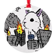 bunny monster colored png Ornament