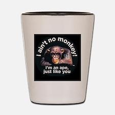 4-aint no monkey military cap Shot Glass
