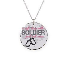 Be safe sleep with a Soldier Necklace Circle Charm