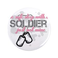 """Be safe sleep with a Soldier 3.5"""" Button"""