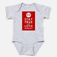 INFINITE LOVE Heart Red Baby Bodysuit