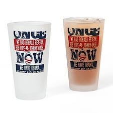 Obama, No Hope, No Cash (large) Drinking Glass