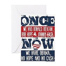 Obama, No Hope, No Cash (large) Greeting Card