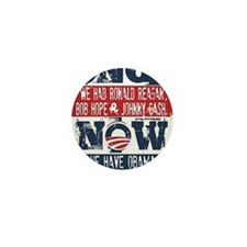 Obama, No Hope, No Cash (large) Mini Button