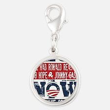 Obama, No Hope, No Cash (large Silver Round Charm