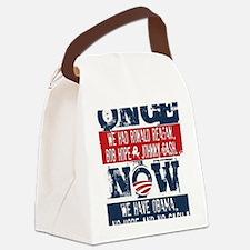 Obama, No Hope, No Cash (large) Canvas Lunch Bag