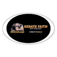 debatefaith_oval Decal