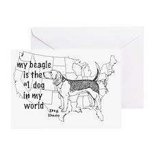 beagle world Greeting Card