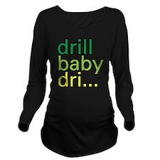 drillbaby-01 Long Sleeve Maternity T-Shirt