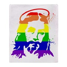 gaypridejesus Throw Blanket